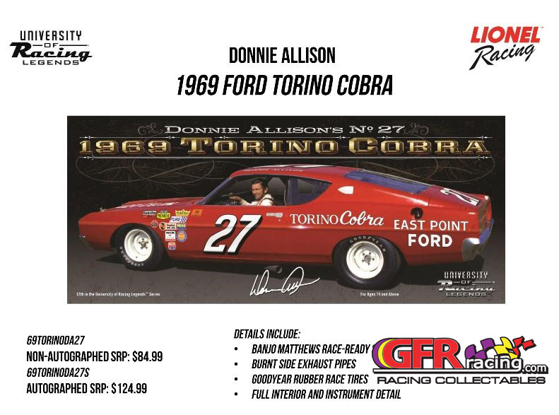 1969 Donnie Allison #27 East Point Ford Torino 1:24  Diecast Car.