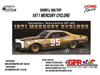 1971 Darrell Waltrip #95 Terminal Transport Mercury Cyclone 1:24 Diecast Car