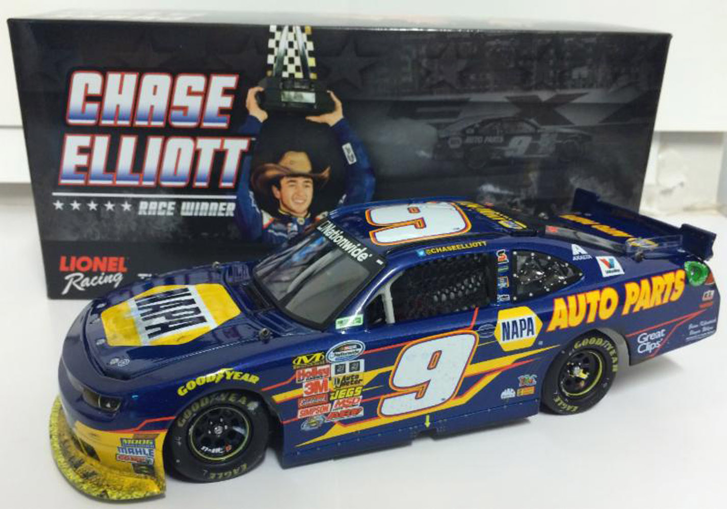 2014 Chase Elliott #9 Napa 1st NW Texas Raced WIN 1/24 Diecast Car.