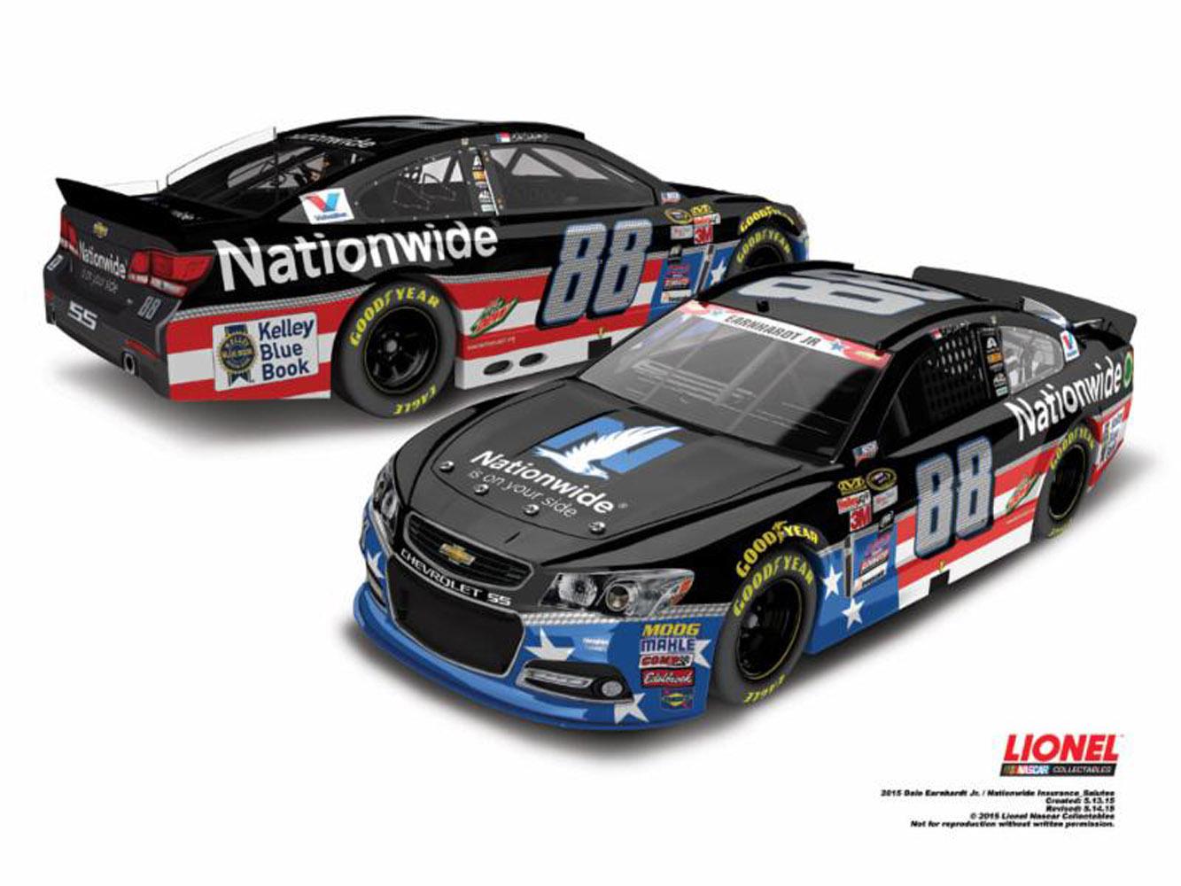 Dale Earnhardt Jr Nationwide American Salutes Diecast Car on Dale Earnhardt Jr Diecast Cars 2015