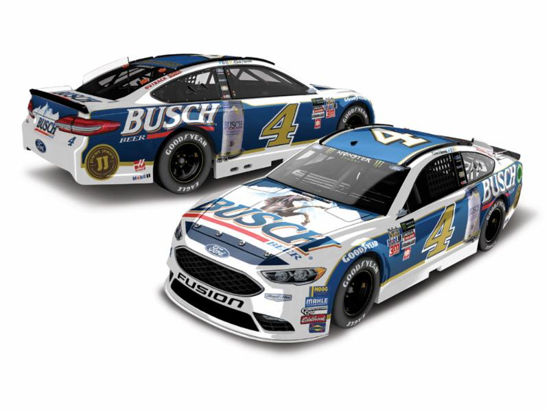 2017 Kevin Harvick #4 Busch Beer Darlington Throwback 1:24 HOTO Diecast Car