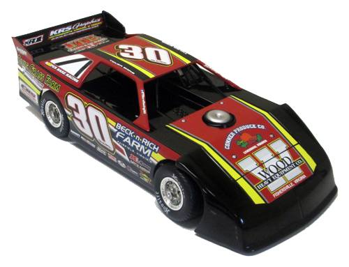 ADC RED SERIES 2017 TYER BARE Dirt Late Model 1/24 Diecast Car.