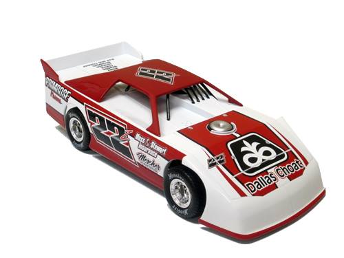 ADC RED SERIES 2017 ZACH ZENTNER Dirt Late Model 1/24 Diecast Car.