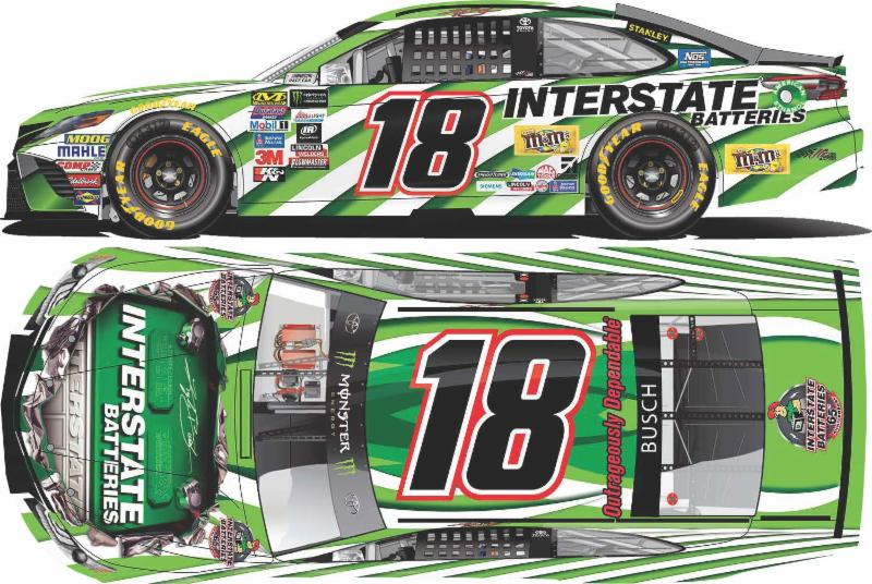 2017 Kyle Busch #18 Interstate Batteries 1:64 Diecast Car