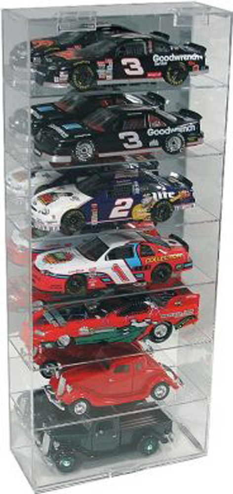 Diecast 7 Car 1/24 Vertical Display Case