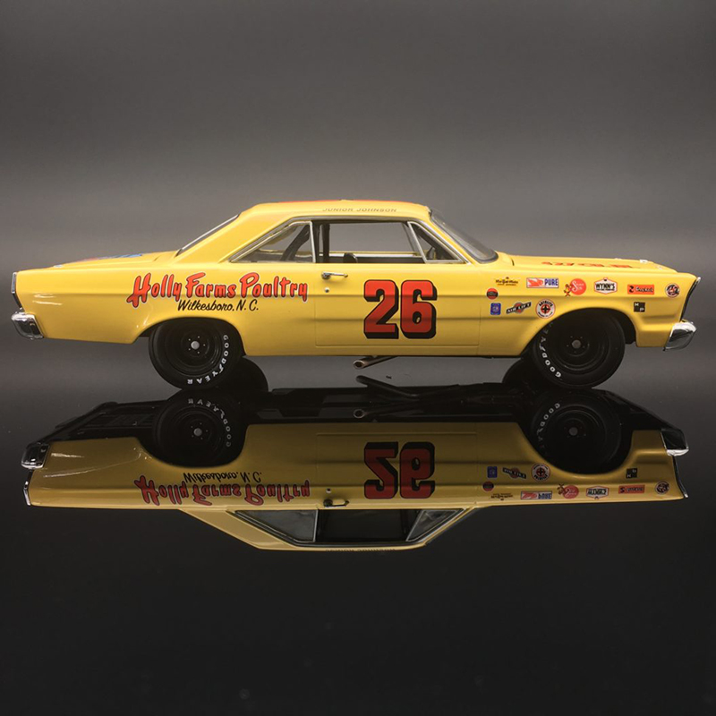 "Junior Johnson #26 Holly Farms Poultry 1965 Ford Galaxie 'AUTOGRAPHED"" 1/24 University of Racing Nascar Diecast Car"
