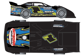 2013 Jeremy Payne #186 Australian Ryan Halliday Racing / GRT 1/24 Dirt Late Model Diecast Car