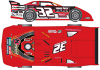 2013 Bobby Pierce #32 1/24 Dirt Late Model Diecast Car