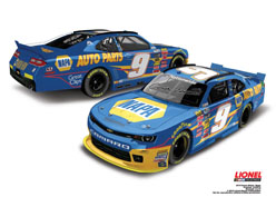 "2014 Chase Elliott #9 Napa ""Autographed"" NW 1/24 Diecast Car."