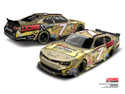 2013 Regan Smith #7 Autographed Lionel Racing Golden Ticket 1:24 Nascar Diecast Car.
