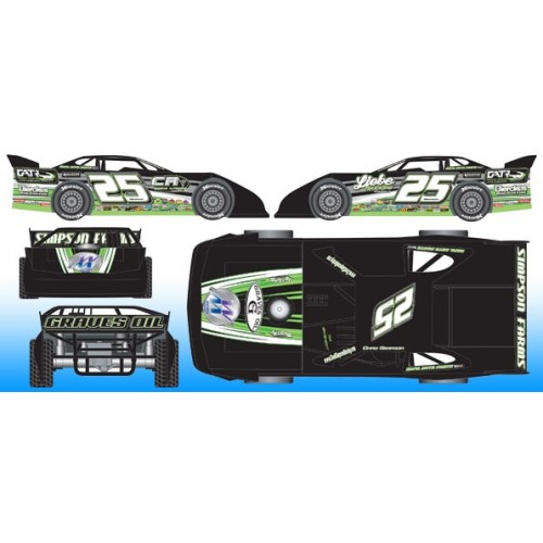 2015 Chad Simpson #25 Dirt Late Model 1/24 Diecast Car
