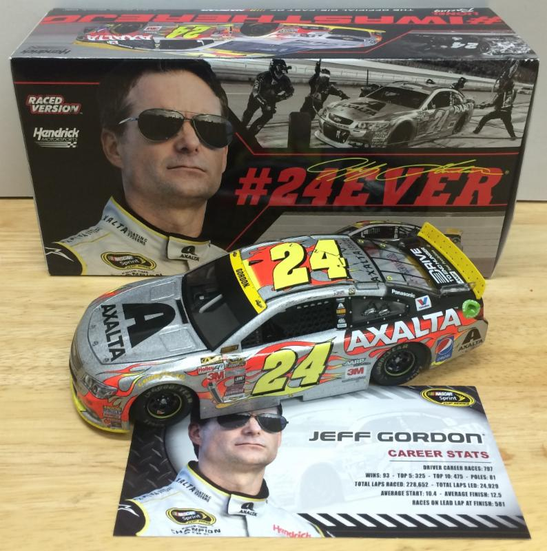 "2015 Jeff Gordon #24 Axalta ""Final Ride"" Homestead Raced Version 1:24 Diecast Car"