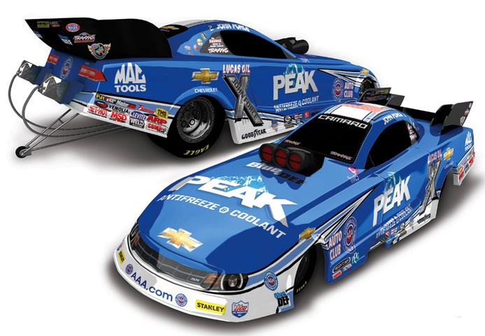 2015 John Force Peak 1/24 Diecast Funny Car.