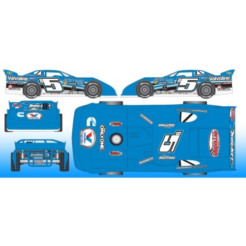 2015 Brandon Sheppard #b5 Dirt Late Model 1:24 Diecast Car