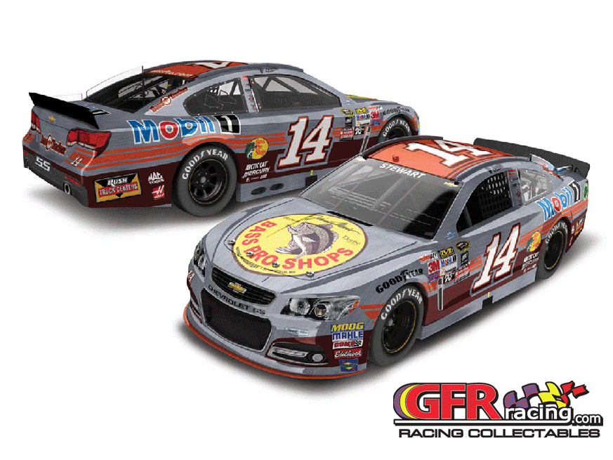2015 Tony Stewart #14 Bass Pro/Bass Tracker Throwback 1:24  Diecast Car