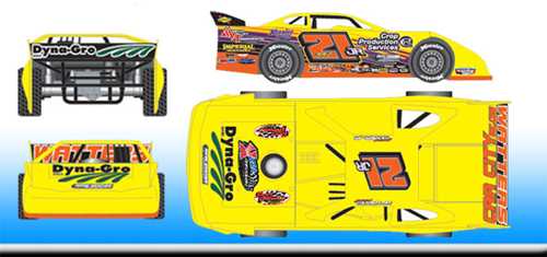 2016 Billy Moyer Jr #21 Dirt Late Model 1/64 Diecast Car