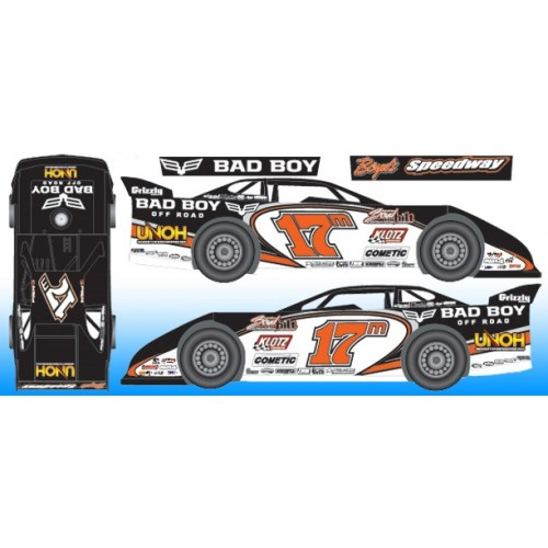 2016 Dale McDowell 17m 1/24 Dirt Late Model Diecast Car