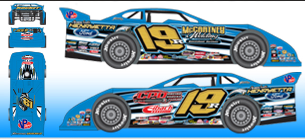 2016 Ryan Gustin #19 Dirt Late Model 1/24 Diecast Car