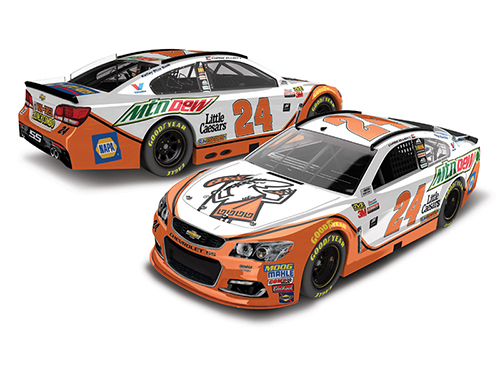 2017 Chase Elliott #24 Mountain Dew / Little Caesars HOTO 1:24 Diecast Car