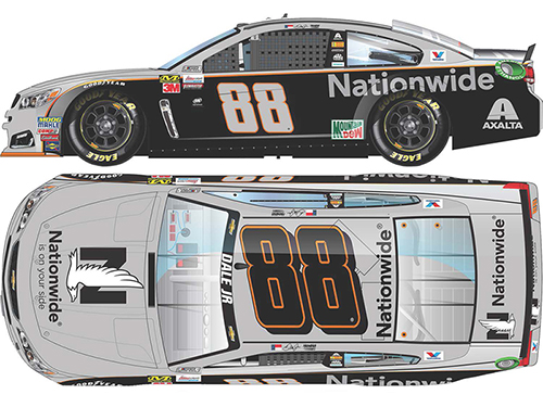 2017 Dale Earnhardt Jr #88 Nationwide Ins Gray Ghost 1:64 Diecast Car