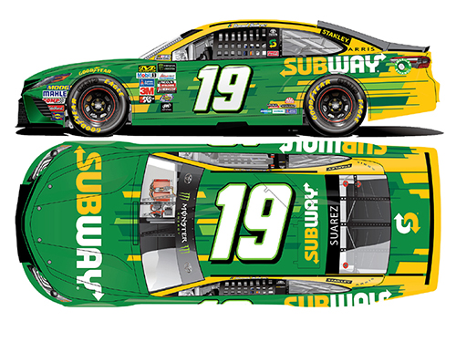 2017 Daniel Suarez #19 Subway 1:64 Diecast Car