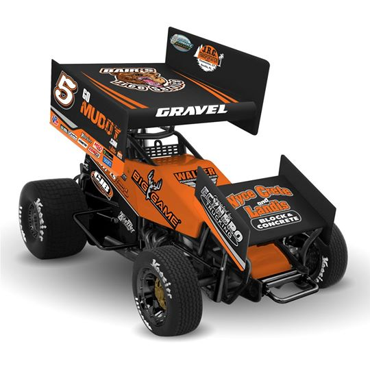 2017 David Gravel #5 CJB 500 Point 1/18 Diecast Sprint Car