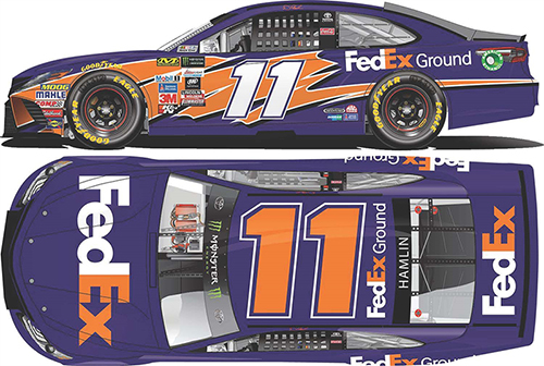 2017 Denny Hamlin #11 FedEx Ground 1:64 Diecast Car
