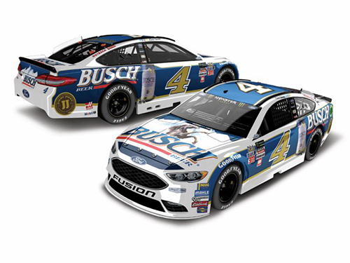 2017 Kevin Harvick #4 Busch Beer Darlington Throwback 1:24 Color Chrome Diecast Car