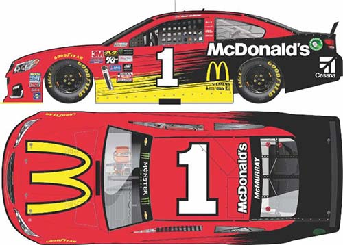 2017 Jamie McMurray #1 McDonalds 1:64 Diecast Car