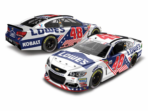 2017 Jimmie Johnson #48 Lowes Patriotic 1:24 Diecast Car