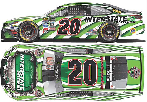 2017 Matt Kenseth #20 Interstate Batteries 1:24 HOTO Diecast Car