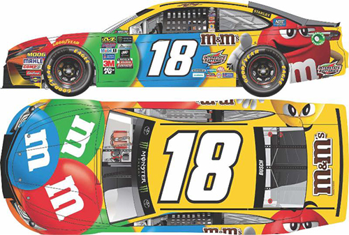 2017 Kyle Busch #18 M&M's 1:64 Diecast Car