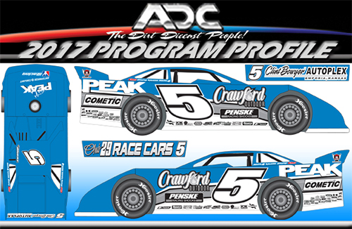 2017 Don O'Neal #5 Dirt Late Model 1/24 Diecast Car