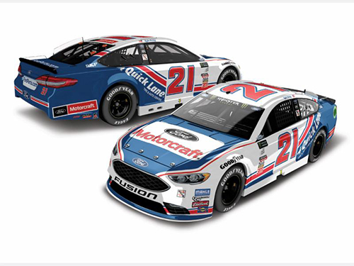 2017 Ryan Blaney #21 Motorcraft Darlington Throwback 1:24 Diecast Car