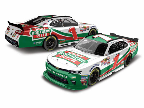 2017 Elliott Sadler #1 Autographed Hunt Bros Pizza 1:24 HO Diecast Car.