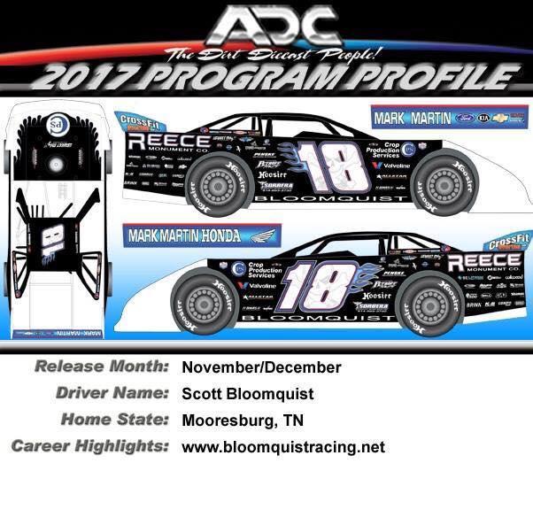 2017 Scott Bloomquist  #18 Dirt Late Model 1/24 Diecast Car