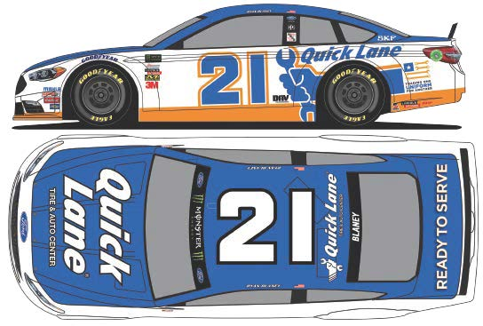 2017 Ryan Blaney #21 Quick Lane 1:24 Diecast Car