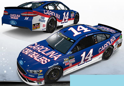 2017 Clint Bowyer #14 Carolina Ford Dealers Darlington Throwback 1:64 HO Diecast Car