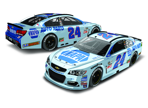 2017 Chase Elliott #24 Napa Darlington Throwback 1:24 Diecast Car