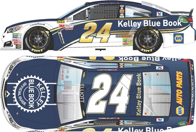 2017 Chase Elliott #24 Kelley Blue Book 1:24 Diecast Car