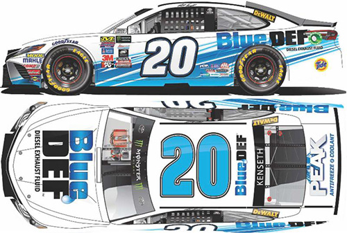 2017 Matt Kenseth #20 Blue Def 1:24 HOTO Diecast Car