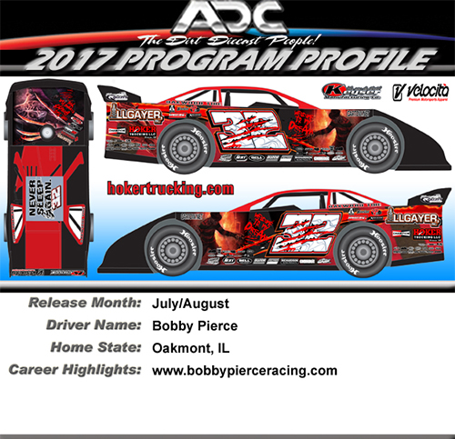 2017 Bobby Pierce #32 Dream 1/24 Dirt Late Model Diecast Car