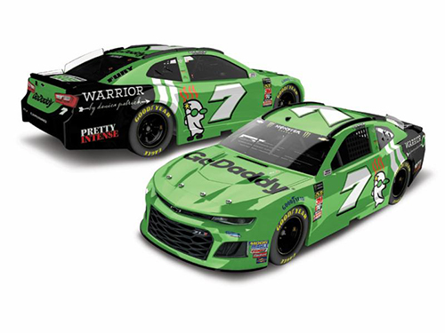 2018 Danica Patrick #7 GoDaddy 1:24 HO Color Chrome Diecast Car.