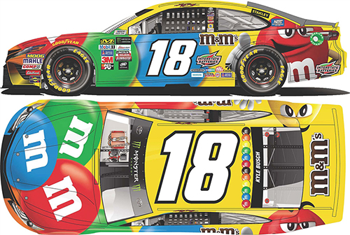 2018 Kyle Busch #18 M&M's HO 1:24 Diecast Car