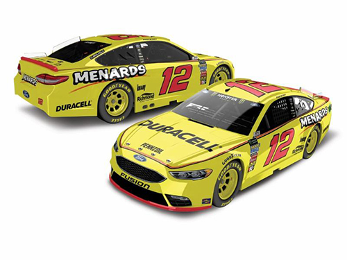 2018 Ryan Blaney #12 Duracell Menards  RCCA Elite HOTO 1:24 Diecast Car