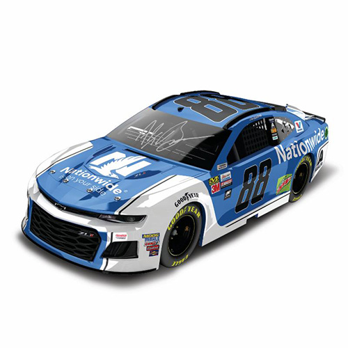 Autographed 2018 Alex Bowman #88 Nationwide Ins. 1:24 HO 1:24 Diecast Car.