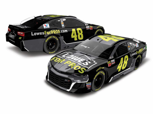 2018 Jimmie Johnson #48 Lowes RCCA Elite 1:24 Diecast Car