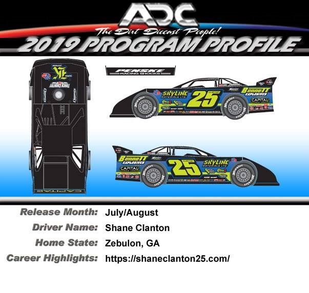 2019 Shane Clanton  #25 1/24 Dirt Late Model Diecast Car