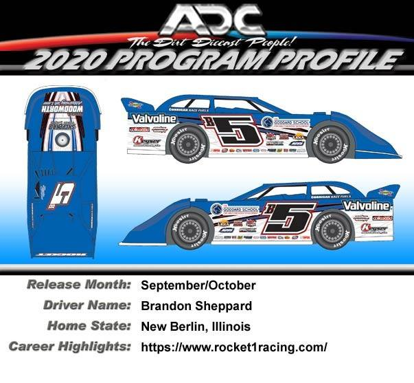 2020 Brandon Sheppard #B5  Dirt Late Model 1:24 Diecast Car