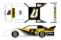 2007 Matt Kenseth #17 Dewalt Eldora Speedway Late Model